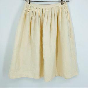 🐑 VINTAGE WOOL skirt midi pleated all natural